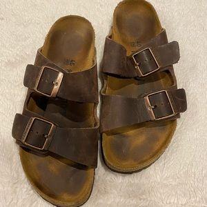 Birkenstock Arizona Brown Leather Sandals